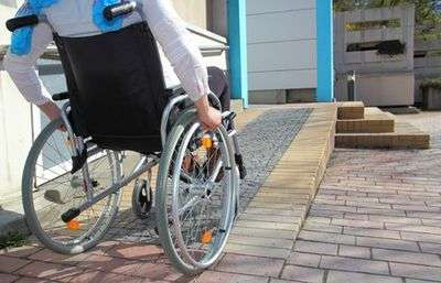 Wheel chair accessibility ramp, products from Anglian Lifts